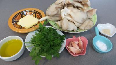 Ingrédients pour la recette : Pleurotes à l'ail et au persil