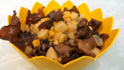 céleri-rave : Champignons noirs à l'ail