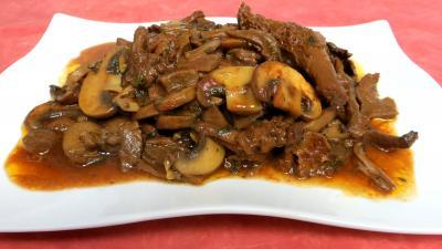 Image : Plat de champignons à la Grecque