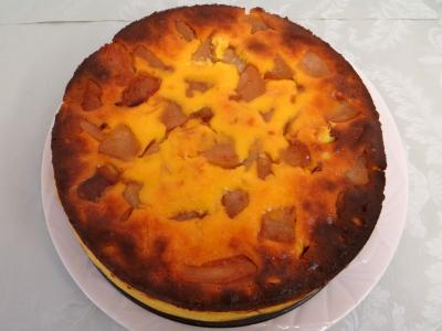 Recette Cheese cake aux poires