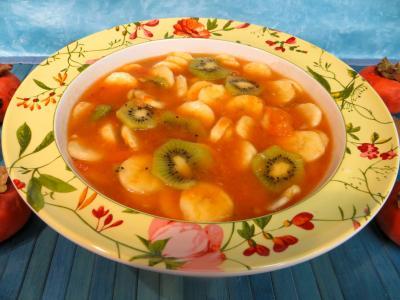 Image : recette Soupe de kakis aux fruits