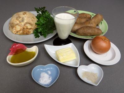 Ingrédients pour la recette : Chou-rave à la paysanne