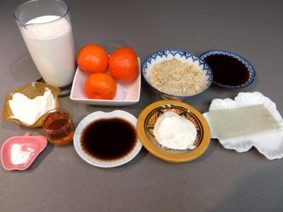 Ingrédients pour la recette : Blanc-manger aux clémentines