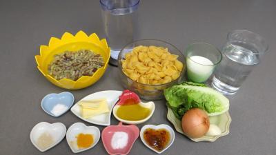 Ingrédients pour la recette : Conchiglie aux haricots secs