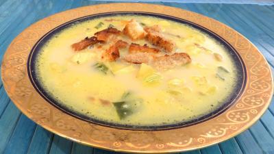 soupe : Potage à la crème et au curry
