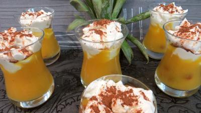 chocolat poudre : Verrines d'ananas à la crème