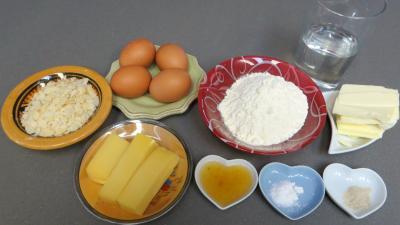 Ingrédients pour la recette : Beignets au fromage au Comté