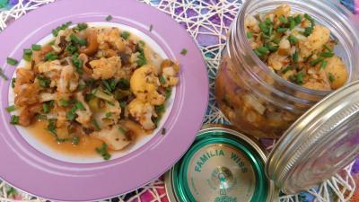 chou-fleur : assiette de chou-fleur façon grecque