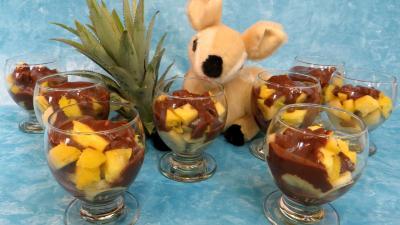 chocolat noir : Verrines de bananes façon créole