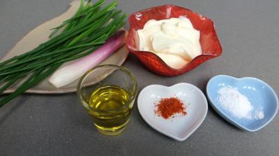 Ingrédients pour la recette : Crème de ciboulette