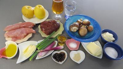 Ingrédients pour la recette : Fricassée de volaille au cidre