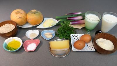 Ingrédients pour la recette : Gratin de navets