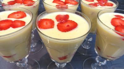 Recette Crème bavaroise aux fraises