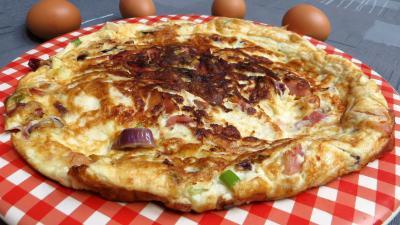 Image : Omelette de blancs d'oeuf au jambon
