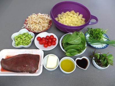 Ingrédients pour la recette : Salade en sauce verte