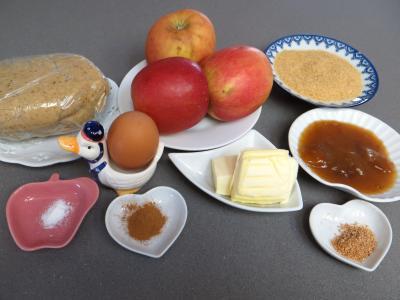 Ingrédients pour la recette : Tarte aux pommes aux épices