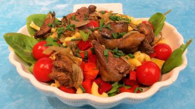 Entrées & salades : Foies de volailles et crudités