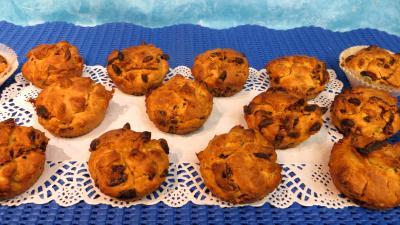 levure chimique : Plat de muffins aux baies de goji