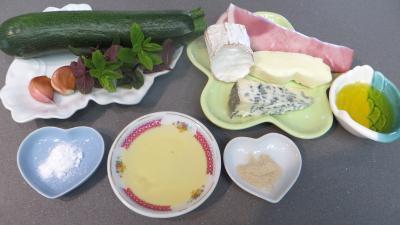 Ingrédients pour la recette : Courgette aux fromages