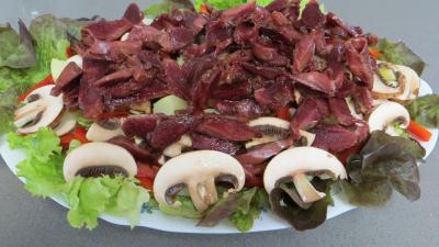Fèves en salade aux gésiers confits - 5.4