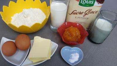 Ingrédients pour la recette : Gaufres à la crème