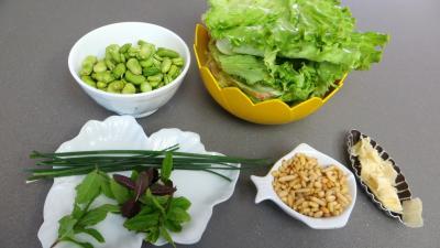 Ingrédients pour la recette : Fèves façon italienne
