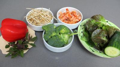 Ingrédients pour la recette : Haricots mungo en salade