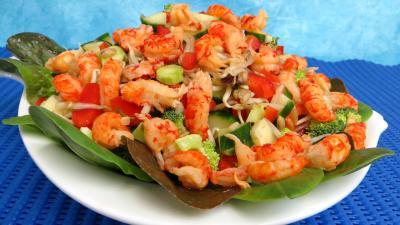 Recettes rapides : Plat de haricots mungo en salade