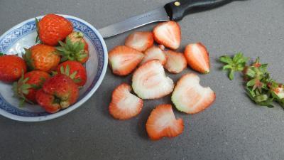 Abricots et fraises à la crème de miel - 1.4