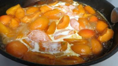 Abricots et fraises à la crème de miel - 3.2