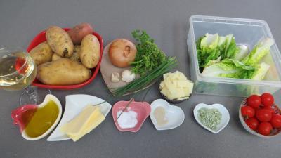 Ingrédients pour la recette : Pommes de terre en salade