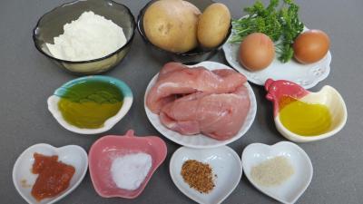 Ingrédients pour la recette : Galettes de poulet