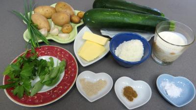 Ingrédients pour la recette : Purée de courgettes