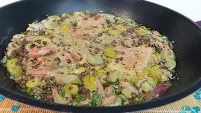 Image : Wok de lentilles à la sauce moutarde