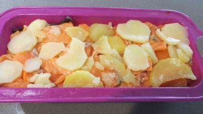 Gâteau d'omelette au saumon - 6.2