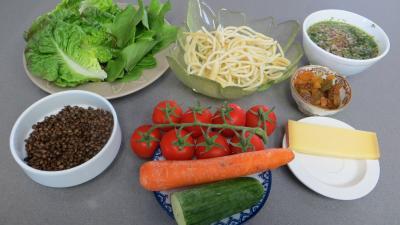 Ingrédients pour la recette : Lentilles en salade