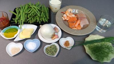 Ingrédients pour la recette : Haricots verts à l'océane