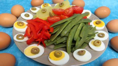 haricots verts : Assiette de salade provençale