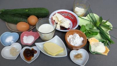 Ingrédients pour la recette : Pancakes aux courgettes