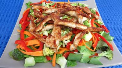 Les grands classiques : Plat de blancs de poulet en salade