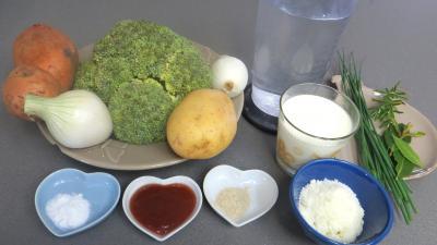 Ingrédients pour la recette : Crème de brocolis