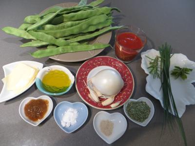 Ingrédients pour la recette : Haricots plats à la vénitienne