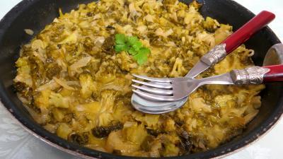 beurre : Sauteuse de brocolis et bettes façon romaine