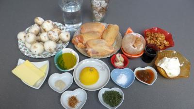 Ingrédients pour la recette : Blancs de poulet aux cacahuètes