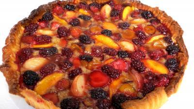 sucre glace : Sablé amandin aux fruits d'été
