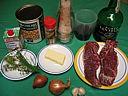 Ingrédients pour la recette : Contrefilet purée de pois chiche