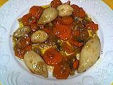 blanc d'encornets aux carottes
