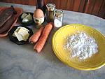 Ingrédients pour la recette : Galettes de carottes au foie de veau
