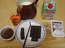 Ingrédients pour la recette : Gourmandise au chocolat et café