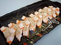 canapés pommes et surimi